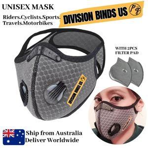 1Set Reusable Face Mask Gray Dual Breathing Valve